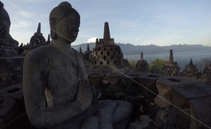 Borobudur Temple in the Morning